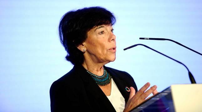 foto de La ministra de Educación y Formación Profesional, Isabel Celaá