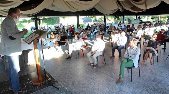 foto de Intervención de Javier Esparza durante el Consejo Político de UPN celebrado ayer en Castejón.