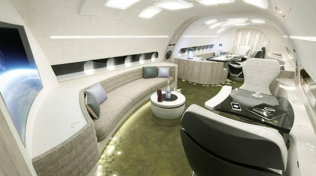El jet privado más suntuoso del mundo vuelve a surcar los cielos