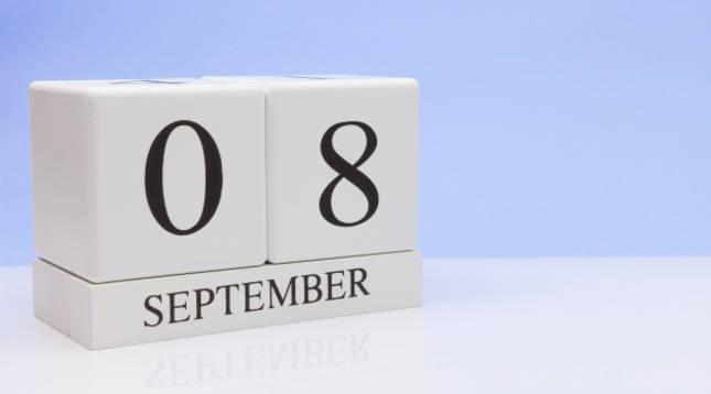 ¿Dónde es festivo el 8 de septiembre?