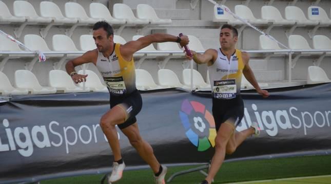 Pedro Cobo y Adei Montiel, dos de los navarros que irán a Madrid.