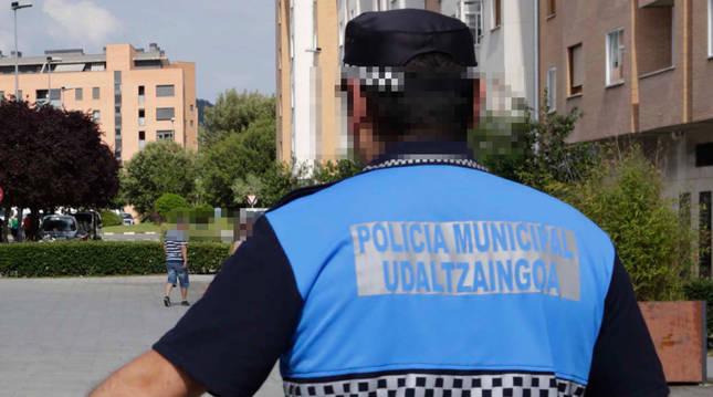 Foto de un agente de la Policía Municipal.