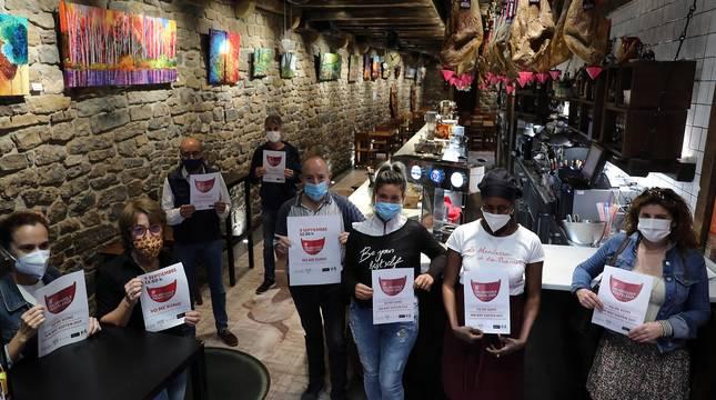 Los bares protestan por la situación de la hostelería ante la pandemia