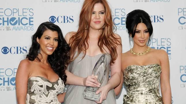 Kourtney, Khloe y Kim Kardashian, en una imagen de archivo.