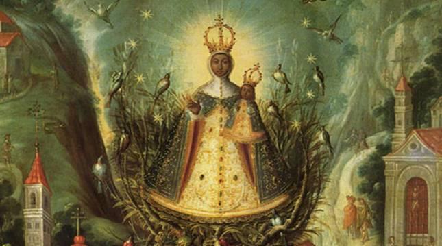 Imagen de la Virgen de Aránzazu