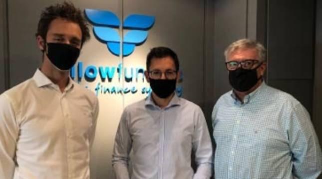 foto de A la izquierda, Mario Grande, Managing Partner en XtartCube; Rubén Díez,CEO de Ikan Biotech y Ernesto Muñoz, Senior Partner en Fellow Funders.
