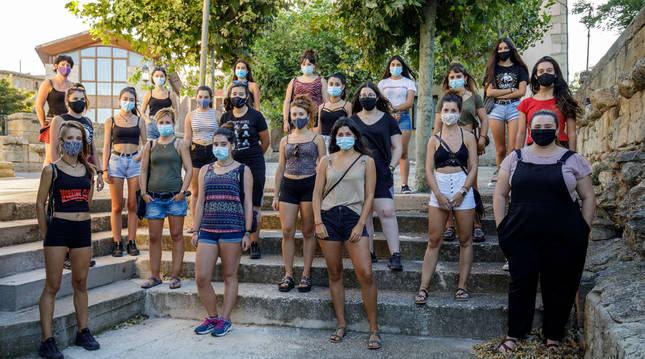 Jóvenes participantes en el taller celebrado en Miranda de Arga.