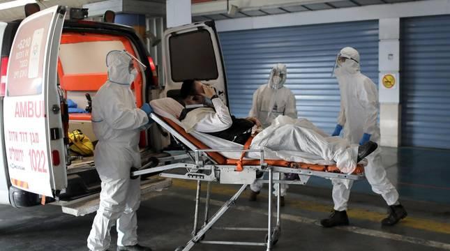 Traslado de un paciente al Shaare Zedek Hospital, en Israel.