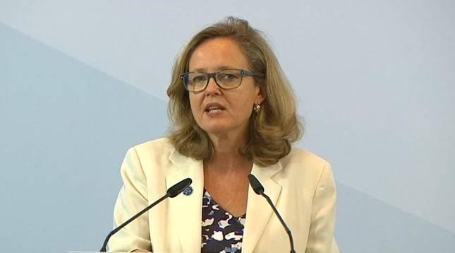 Foto de Nadia Calviño, ministra de Asuntos Económicos y Transformación Digital.