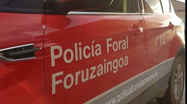 Imagen de un vehículo de la Policía Foral.