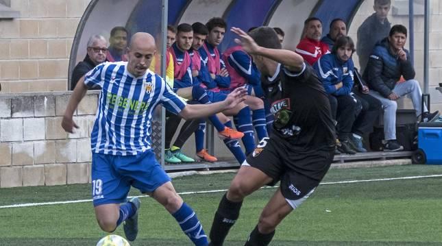 Una acción del Izarra-Tudelano de la temporada pasada.