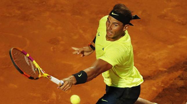 El tenista español Rafa Nadal en el Masters 1.000 de Roma.