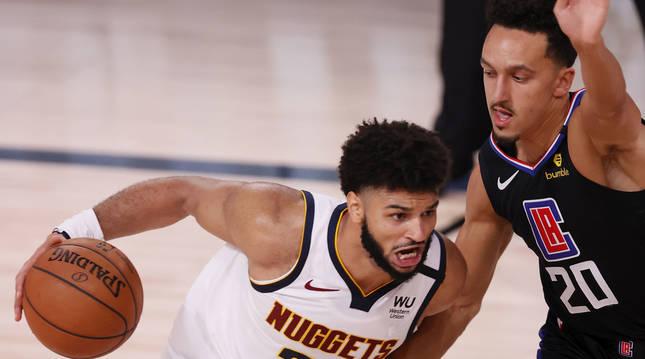 Foto del partido entre los Nuggets de Denver y Los Angeles Clippers.