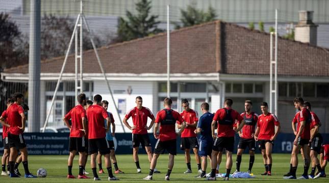 Foto del entrenamiento de Osasuna de este miércoles.