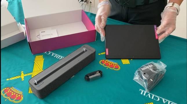foto de Una de las tablets robadas en el hotel que ha sido recuperada