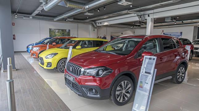 Foto del interior del concesionario Suzuki en Mutilva (Navarra).