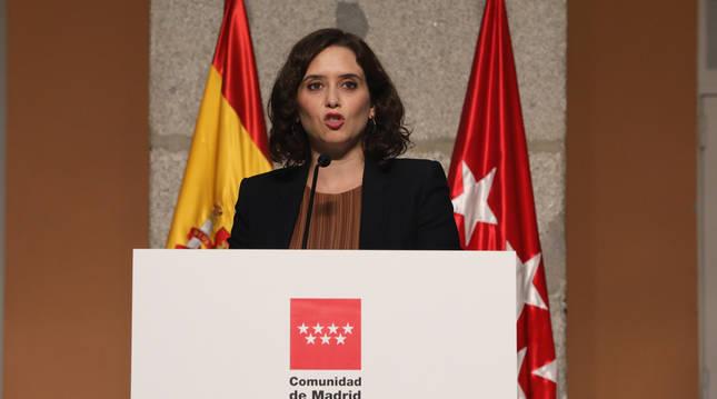 foto de Comparecencia de la presidenta de la Comunidad de Madrid, Isabel Díaz Ayuso, para detallar las nuevas medidas en la región ante el COVID-19