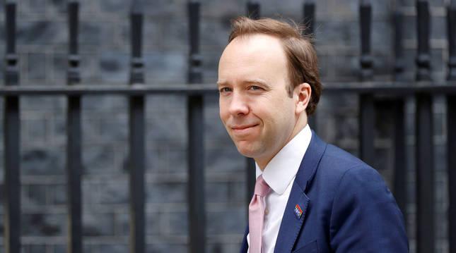 Foto de Matt Hancock, ministro de Sanidad del Reino Unido.