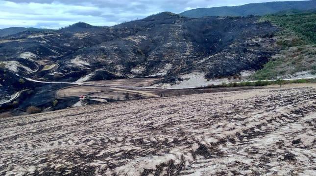 Fotos tras el incendio de Lónguida