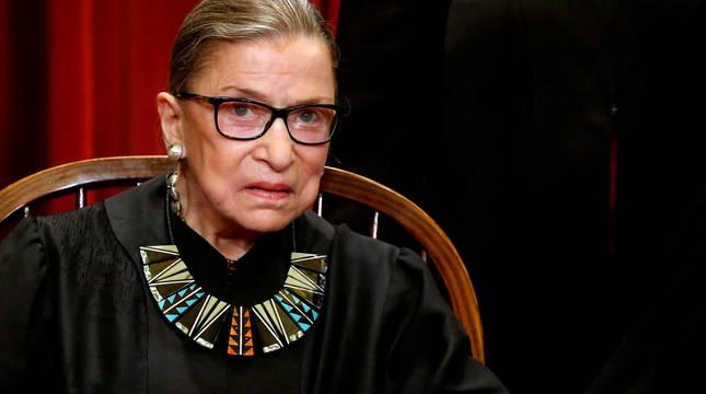 La mistrada estadounidense Ruth Bader Ginsburg, que ha muerto a los 87 años.