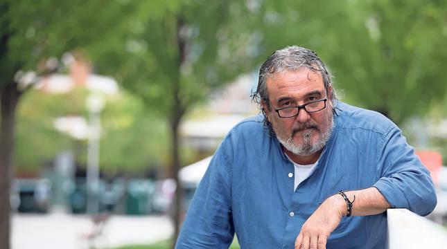 Pascual García Arano ha estado esta semana en Pamplona promocionando su cuarta novela, Delincuenciario.