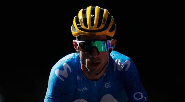 Imanol Erviti, durante una escapada en la pasada edición del Tour de Francia. El navarro consiguió una nueva clasificación por equipos.