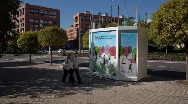 La estación de la plaza Felisa Munárriz mejorará la captación de emisiones