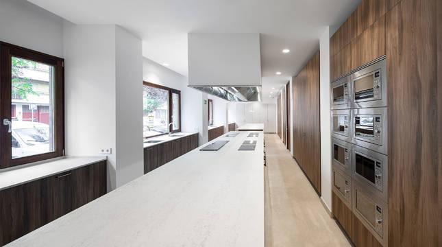 Imagen de la cocina de la nueva residencia de estudiantes.
