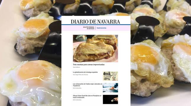 Nuevo boletín de gastronomía de Diario de Navarra
