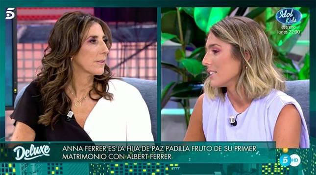 Paz Padilla y su hija, Anna Ferrer, durante la entrevista que concedió la primera en 'Sábado Deluxe' hace unas semanas