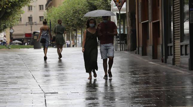 Temporal otoñal con frío, lluvia y cierzo