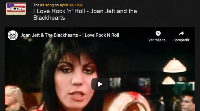 El rock de Joan Jett and the Blackhearts reinaba el 30 de abril de 1982 según Birthday Jams.