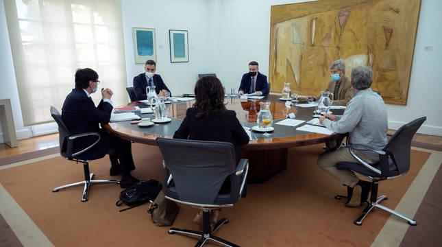Reunión del Comité de seguimiento del coronavirus presidida por Pedro Sánchez.