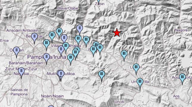 Nuevo terremoto en Navarra: la tierra vuelve a temblar en el Valle de Egües