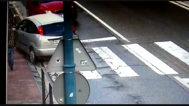 Vídeo de una mariobra peligrosa en Tafalla