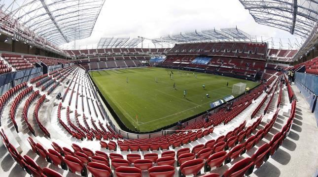 Estadio de El Sadar, minutos antes del Osasuna-Levante.