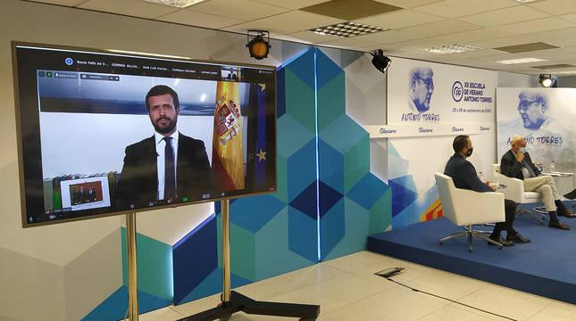 Intervención telemática de Pablo Casado.