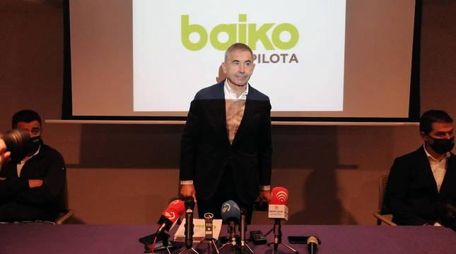 El máximo responsable de Baiko,José Ramón Garai, antes de la rueda de prensa de este jueves.