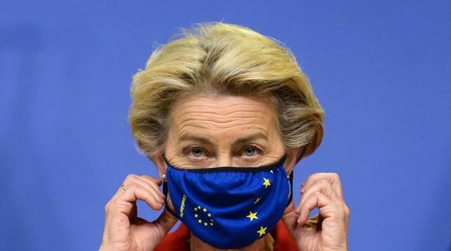Foto de la jefa del Ejecutivo comunitario, Ursula von der Leyen, este jueves.