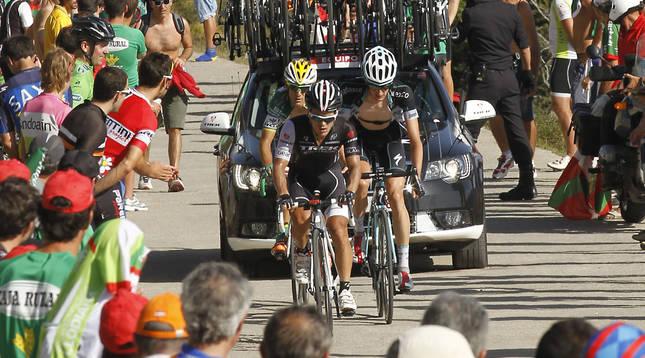 Foto de la ascensión a Aralar en la Vuelta a España de 2014.