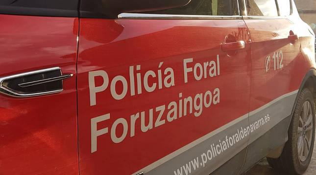 Una patrulla de la Policía Foral de Navarra.