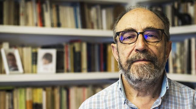 El periodista Javier Pagola, fotografiado en 2017.