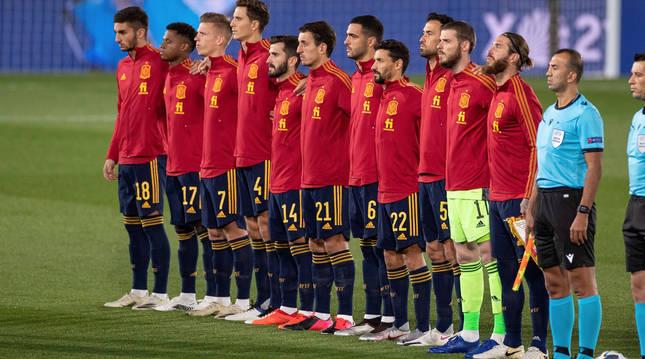 El once inicial de la selección en el partido del pasado sábado ante Suiza.