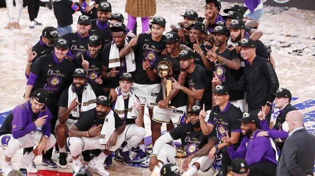 Fotos del título de NBA logrado por Los Angeles Lakers
