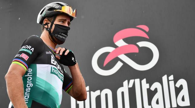 Foto del ciclista Peter Sagan en el Giro 2020.