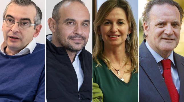 Sergio Gómez, Jesús Rodríguez, Yolanda Erro y Tomás Rodríguez, invitados al foro DN En Vivo sobre educación.