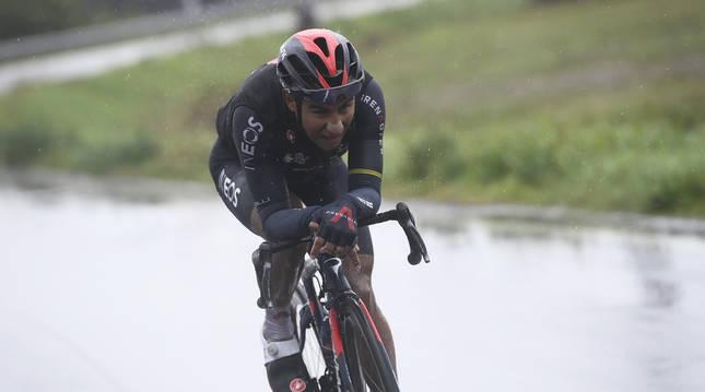 El ecuatoriano Jhonatan Narváez, durante la duodécima etapa del Giro de Italia.