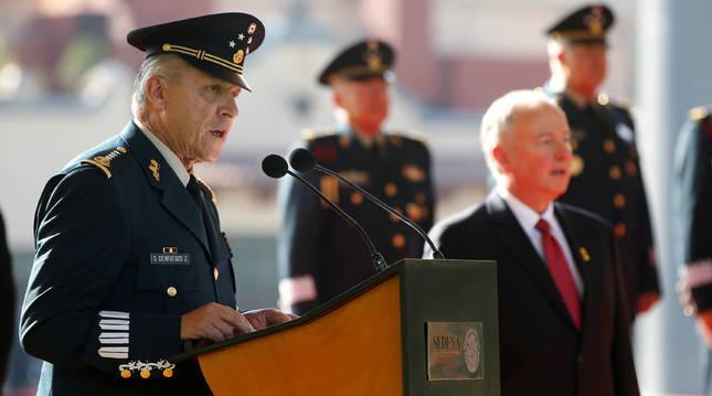 El General Salvador Cienfuegos Zepeda, durante una recepción oficial en Ciudad de México.