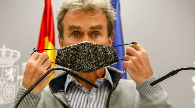 Simón señala que España está en una fase de estabilización, aunque destaca la alta incidencia en Navarra
