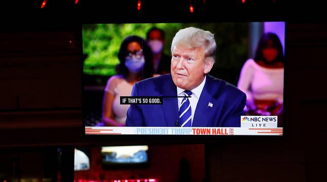 Donald Trump, en una televisión.